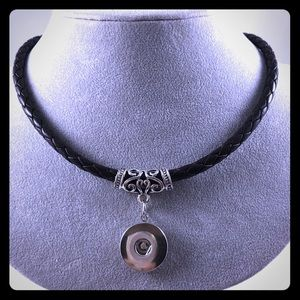 Interchangeable Snap Leather Necklace